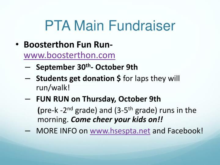 PTA Main Fundraiser