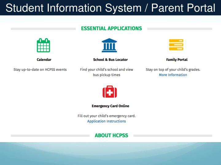 Student Information System / Parent