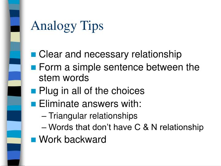 Analogy Tips