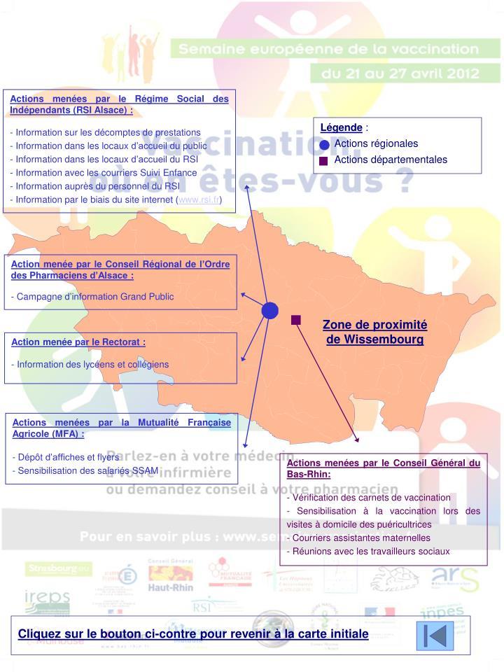 Actions menées par le Régime Social des Indépendants (RSI Alsace) :
