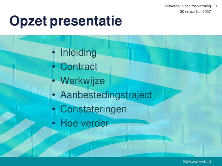 Innovatie in contractvorming