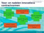 voor en nadelen innovatieve contractvormen