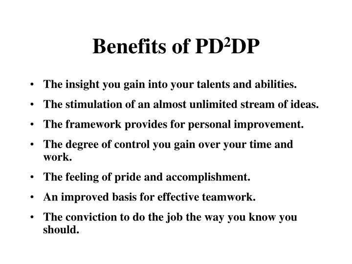 Benefits of PD