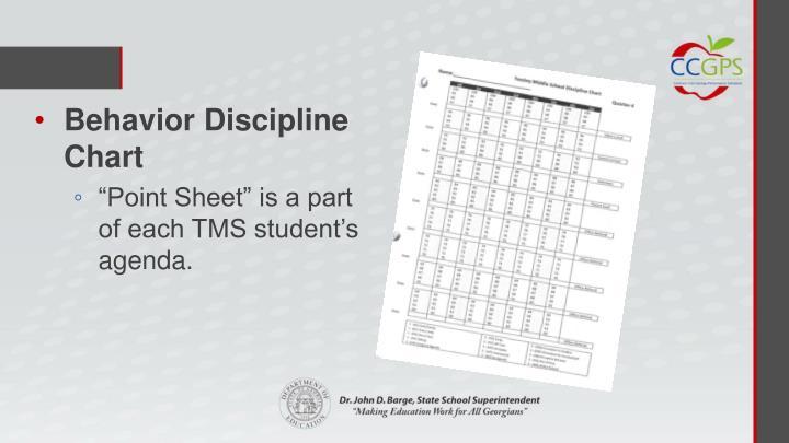Behavior Discipline Chart