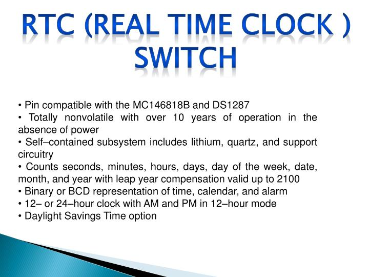RTC (Real Time Clock ) Switch