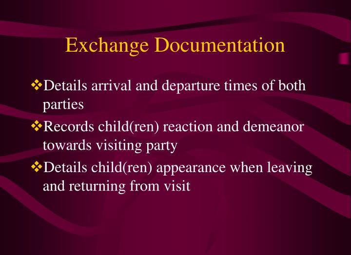 Exchange Documentation