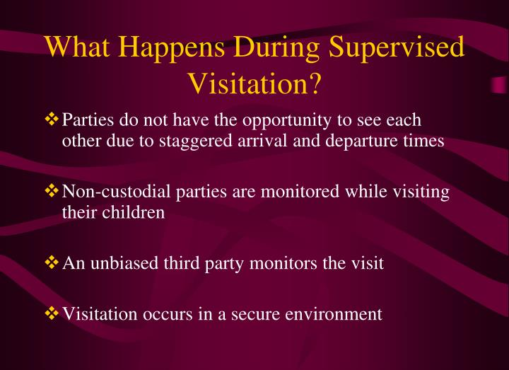 What Happens During Supervised Visitation?