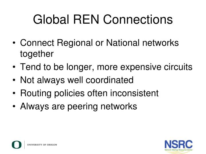 Global REN Connections