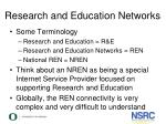 research and education networks