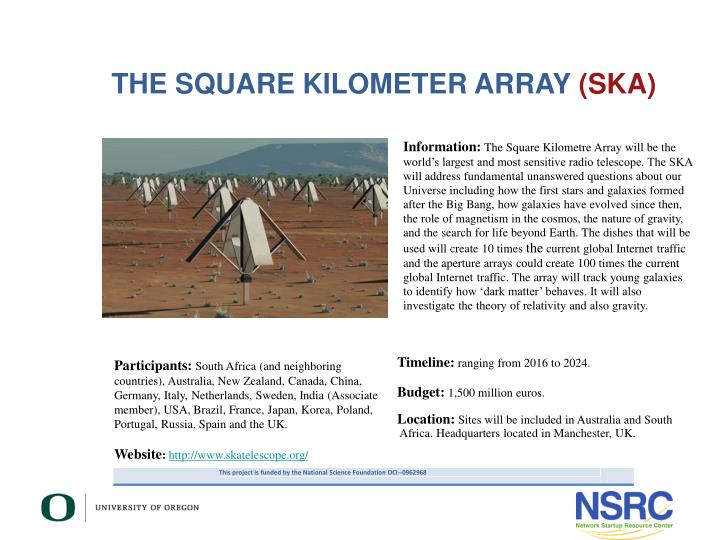 THE SQUARE KILOMETER ARRAY