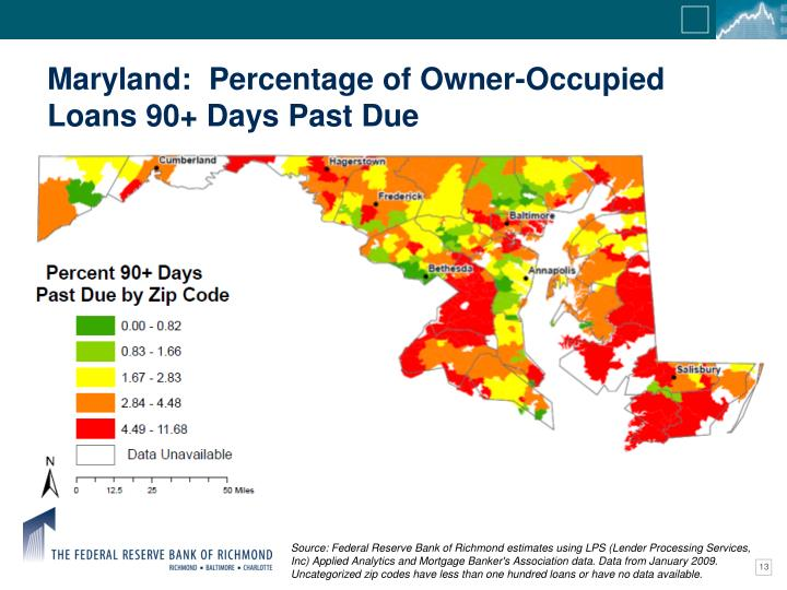 Maryland:  Percentage of Owner-Occupied Loans 90+ Days Past Due