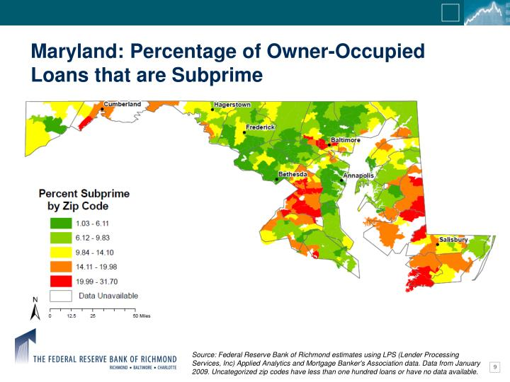 Maryland: Percentage of Owner-Occupied Loans that are Subprime