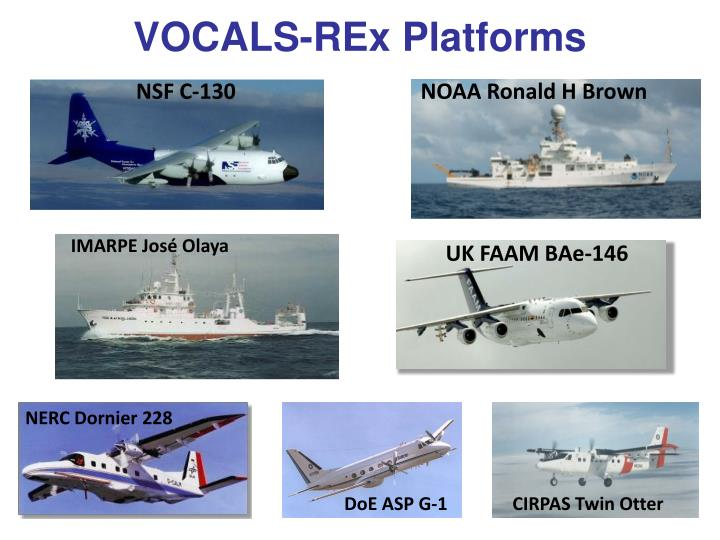 VOCALS-REx Platforms