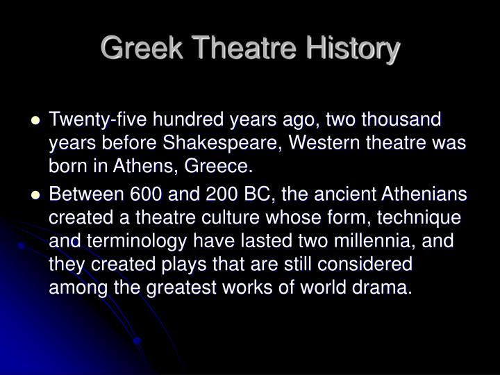 Greek Theatre History