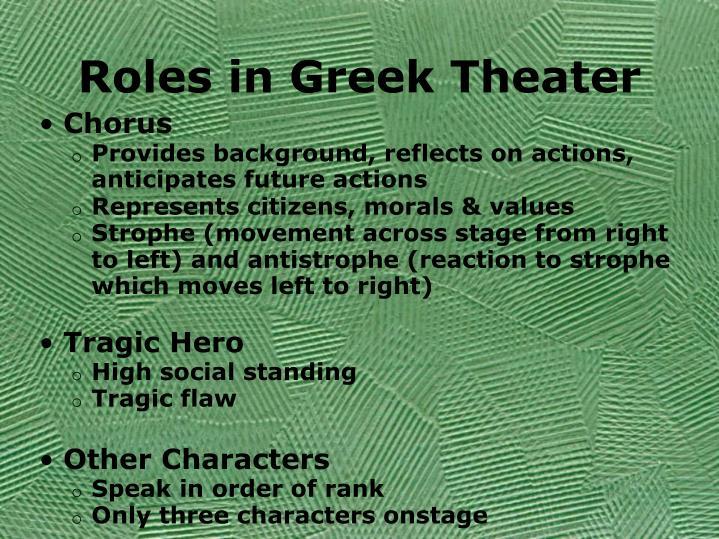 Roles in Greek Theater