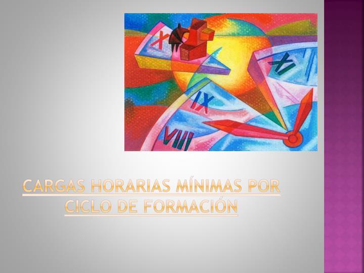 CARGAS HORARIAS