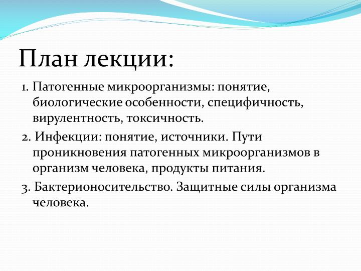 План лекции: