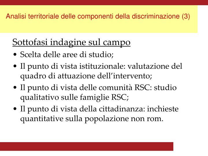 Analisi territoriale delle componenti della discriminazione (3)