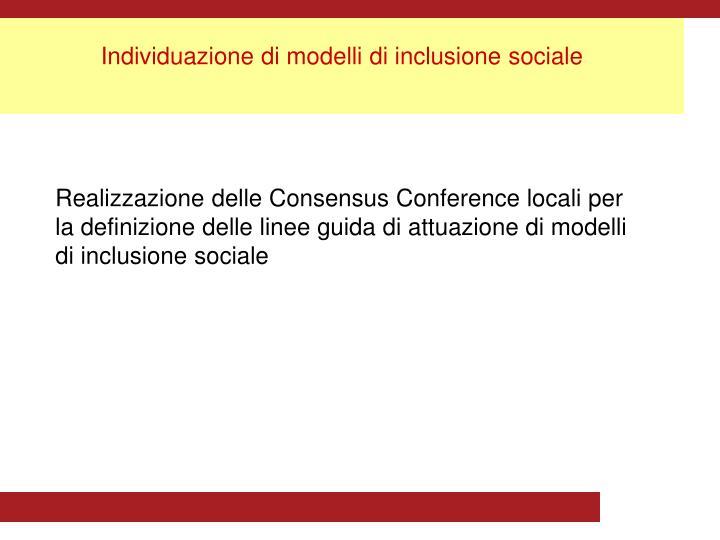 Individuazione di modelli di inclusione sociale