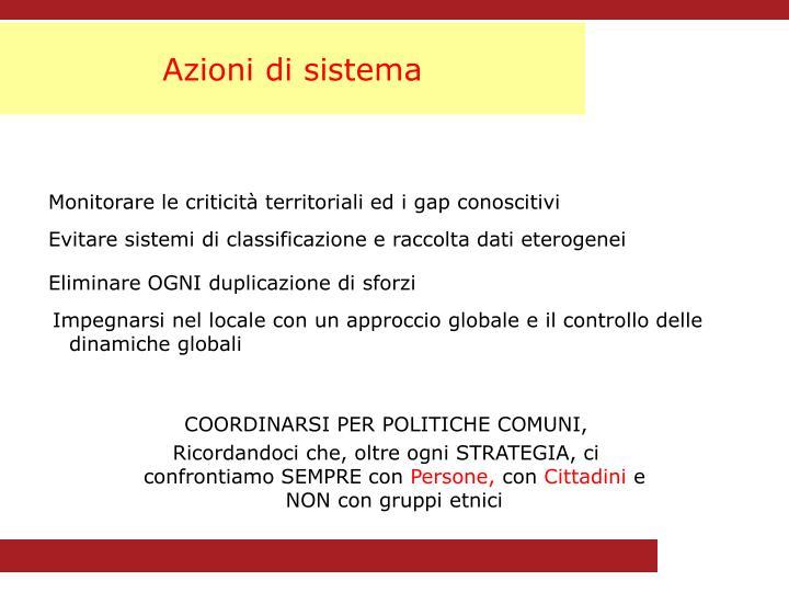 Azioni di sistema