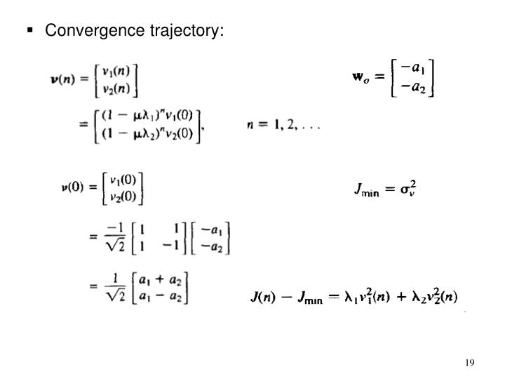 Convergence trajectory: