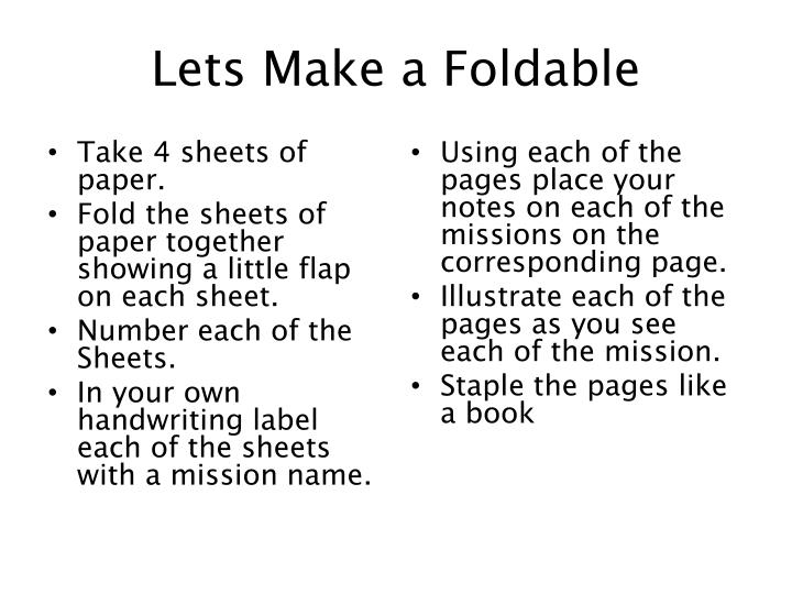 Lets make a foldable