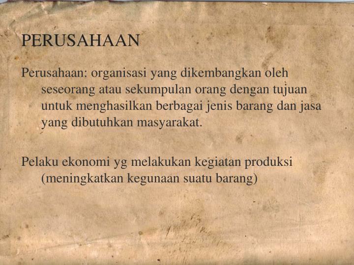 PERUSAHAAN