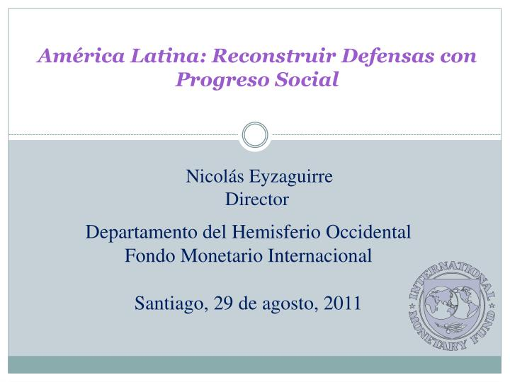 Am rica latina reconstruir defensas con progreso social