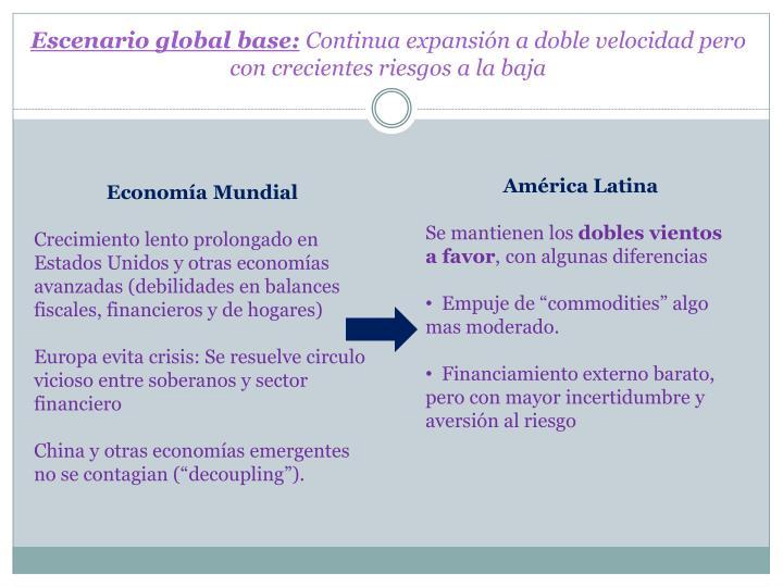 Escenario global base: