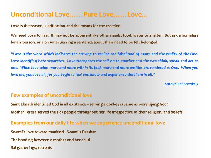 Unconditional Love……Pure Love……Love…