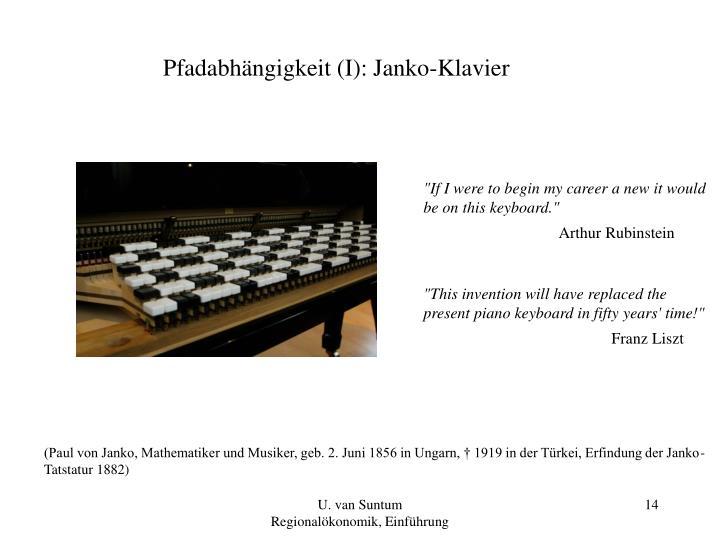 Pfadabhängigkeit (I): Janko-Klavier