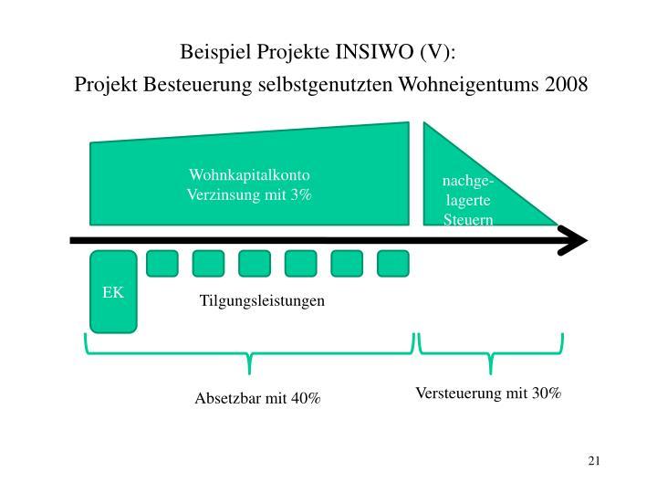 Beispiel Projekte INSIWO (V):