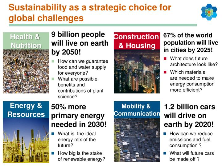 Sustainability as a strategic choice for global challenges