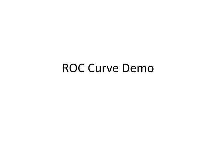 ROC Curve Demo