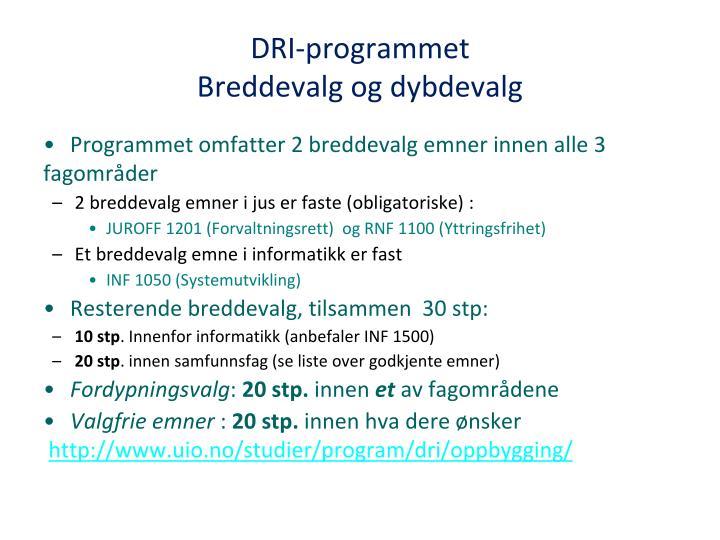 DRI-programmet