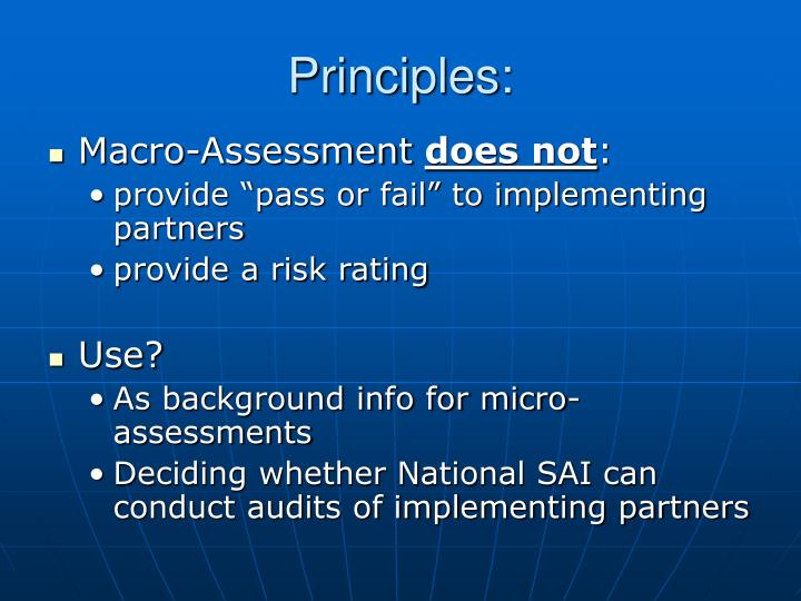 Principles: