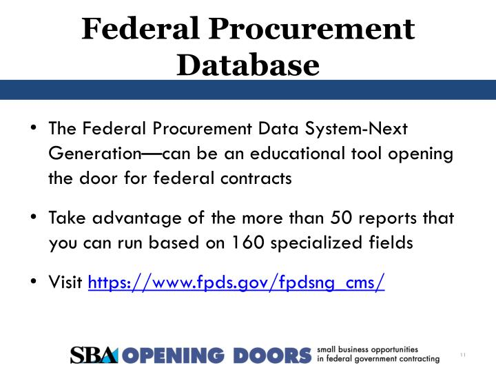 Federal Procurement Data System : Ppt federal government contracting powerpoint