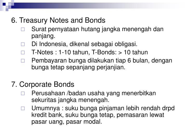 6. Treasury Notes and Bonds