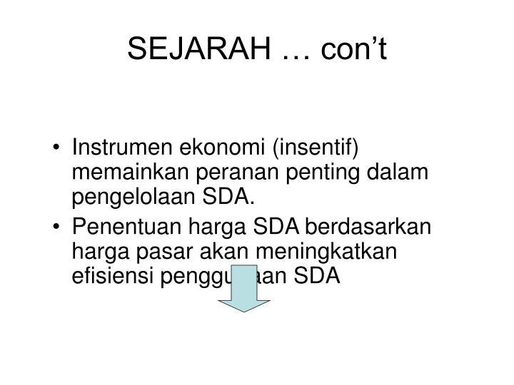 SEJARAH … con't