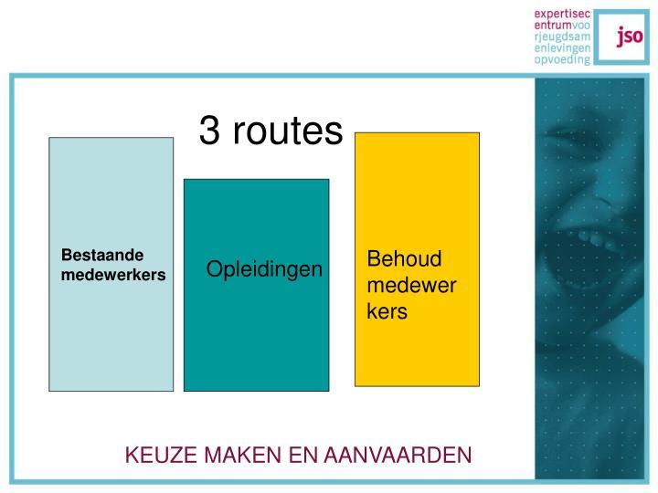 3 routes