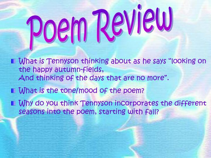 Poem Review