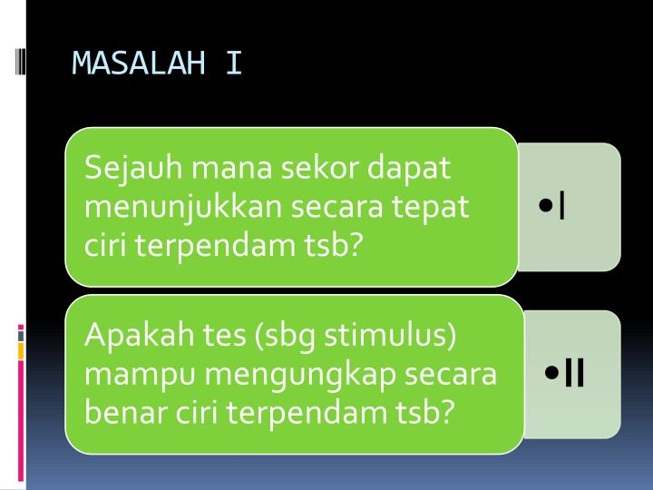 MASALAH I