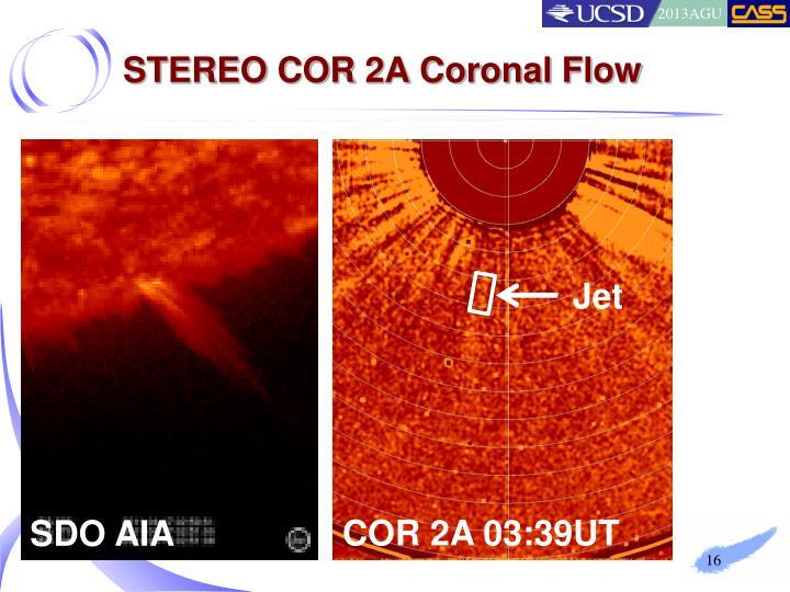 STEREO COR 2A Coronal Flow