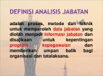 definisi analisis jabatan