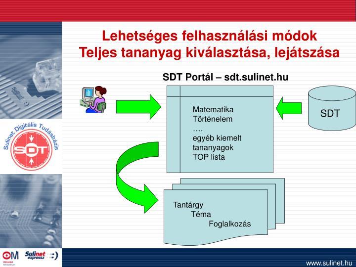 SDT Portál – sdt.sulinet.hu