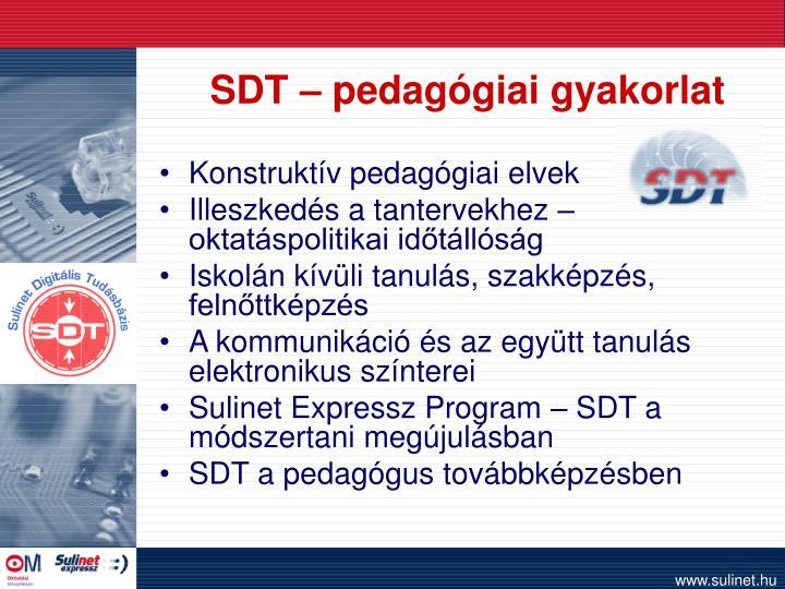SDT – pedagógiai gyakorlat