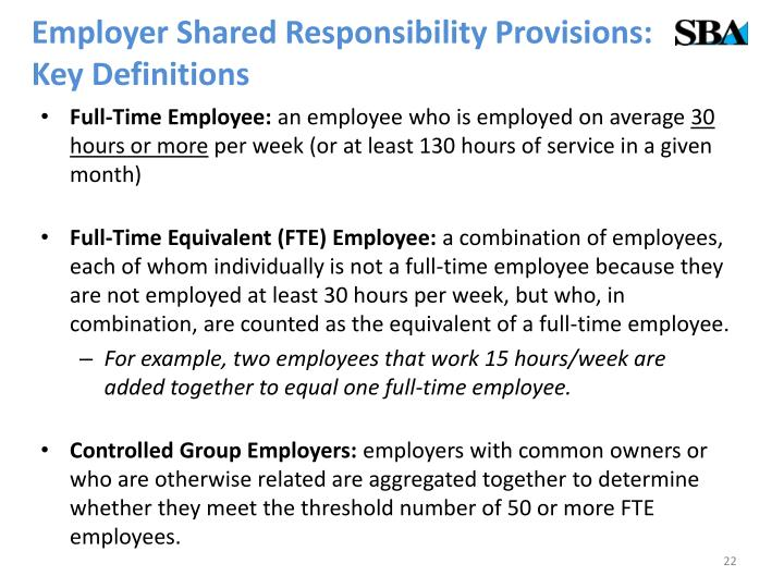 Employer Shared Responsibility Provisions: