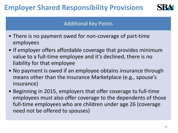 Employer Shared Responsibility Provisions