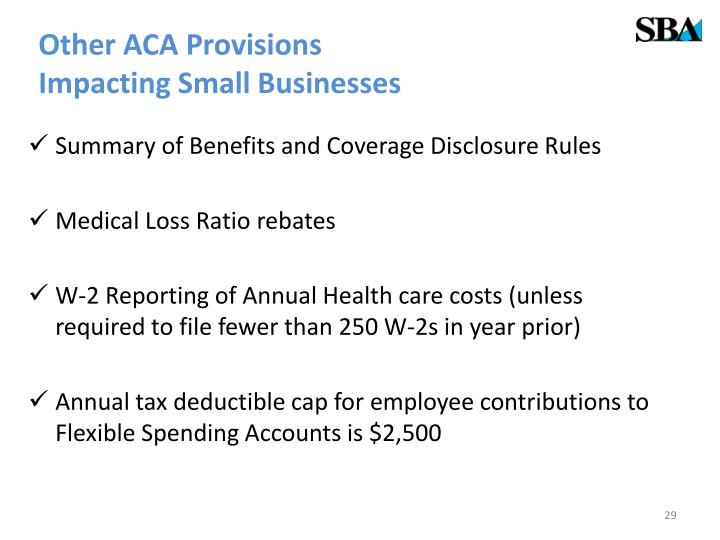 Other ACA Provisions