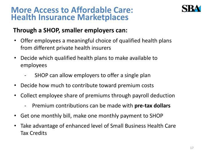 More Access to Affordable Care: